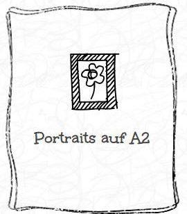 Portraits von Menschen auf A2