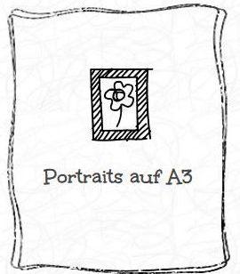 Portraits von Menschen auf A3