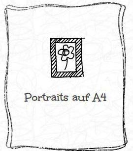 Portraits von Menschen auf A4